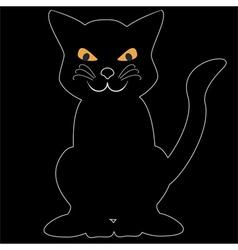 black cat vector image vector image