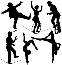 Circus Artist Silhouette vector image vector image