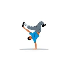 One hip hop acrobatic break dancer breakdancing vector image