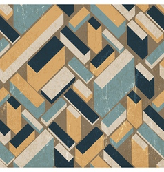 seamless vintage buildings pattern vector image vector image