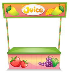 A fruit vendor stall vector image vector image