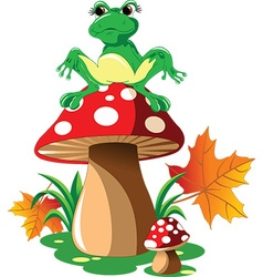 Cartoon frog design vector image vector image