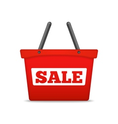 Shopping Basket with Sale Word vector image
