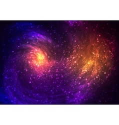 Colorful space background with Nebula stellar vector image