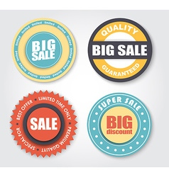 Design stamps for sale in retro style vector image