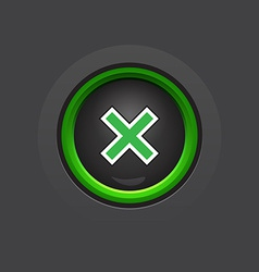 glossy dark exit button vector image