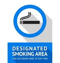 Label smoking area sticker flat design vector image vector image