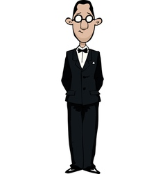 Retro man with glasses vector image vector image