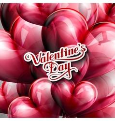 Valentines Day retro label vector image vector image