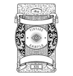 Vintage label victorian style vector