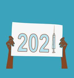 2021 year mass vaccination world s vector