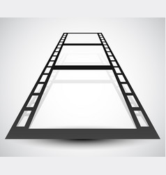 3d filmstrip with perspective vector