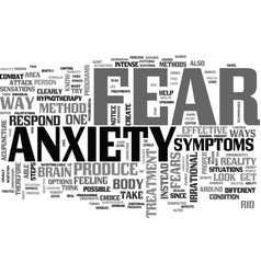 Anxiety ends with us text word cloud concept vector