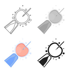artificial insemination icon in cartoon style vector image
