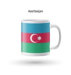 Azerbaijan flag souvenir mug on white background vector image
