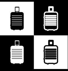 baggage sign black and white vector image
