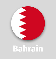 bahrain flag round icon vector image