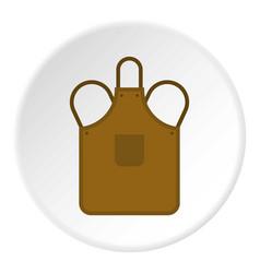 Blacksmiths apron icon circle vector