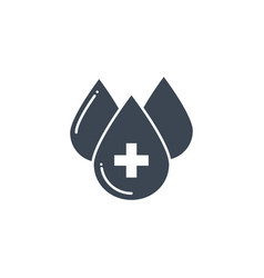 blood donation related glyph icon vector image