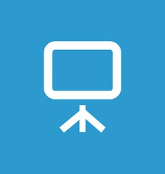 Board icon white on the blue background vector