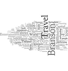 Branson group travel guide vector