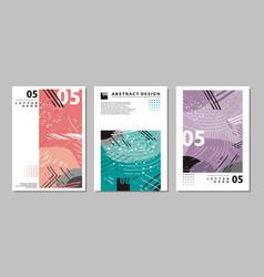 brochure abstract design templates vector image