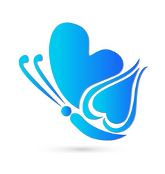 butterfly blue design vector image