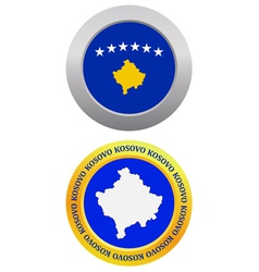 Button as a symbol KOSOVO vector