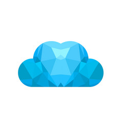 cloud abstract triangle logo vector image