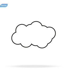 Cloud icon cloud icon in trendy flat vector
