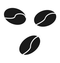 Coffee beans icon simple flat logo of coffee vector