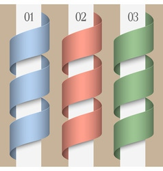 Colored numbered ribbons banners vector image