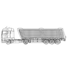 Commercial delivery cargo truck for brand vector