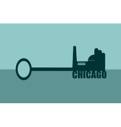 concept of a key chicago vector image
