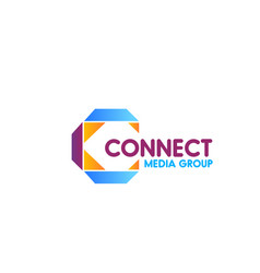 connect media group sign vector image
