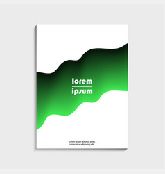 covers design for brochure with abstract green vector image