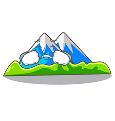 Crying mountain scenery isolated from the mascot vector