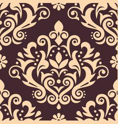 damask luxury seamless pattern victorian vector image