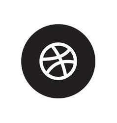 Dribbble icon vector