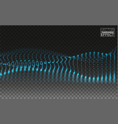 dynamic magic particles wave flowing beautiful 3d vector image