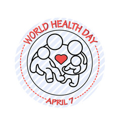 family icon world health vector image