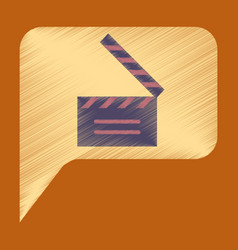 Flat icon in shading style film slapstick vector