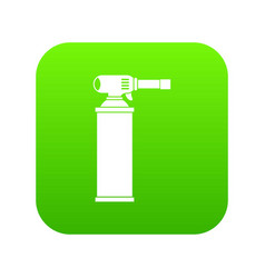 gas cylinder icon digital green vector image