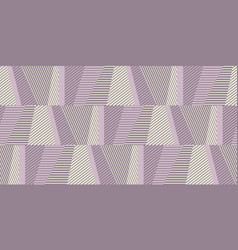 geometric striped seamless wallpaper in pale rose vector image