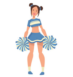 girls cheerleader in uniform with pompoms isolated vector image