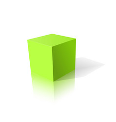 Green cube 3d vector