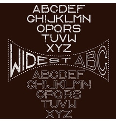 Grunge retro wide alphabet for labels vector