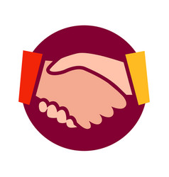 handshake icon isolated on vector image