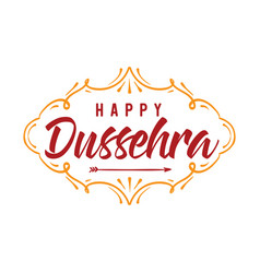 Happy dussehra vector