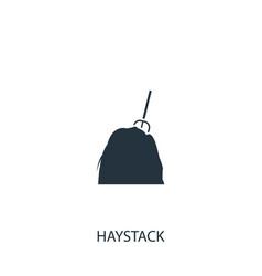 Haystack icon simple gardening element symbol vector